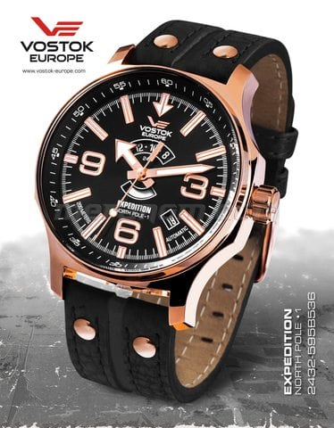 Vostok Europe watch Expedition North Pole 1 2432/595B536 leather strap