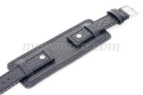 Vostok relojes Vostok-Europe Original Armband Schwarz Schwarze Naht 18mm