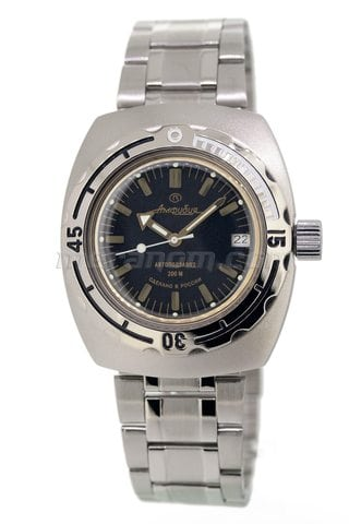 Часы Восток Амфибия Классика 090679M с белым календарем