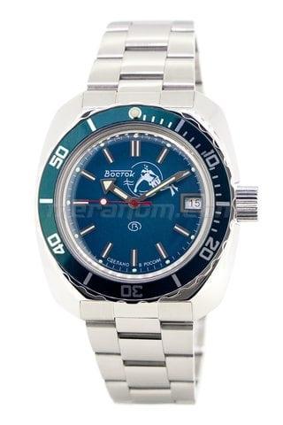 Vostok relojes Amphibian Classic 710059B solid bracelet